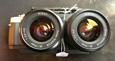 NIKON RBT 3D x2  stereo camera + 2x NIKON  35-70mm 1:3.5-4.8 + case + manual