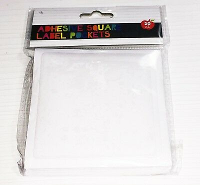 TARGET Adhesive Square Label Pockets 20-ct
