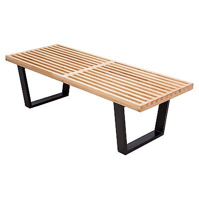 Miraculous George Nelson Inspired Platform Bench 48 4 Feet Ebonized Gmtry Best Dining Table And Chair Ideas Images Gmtryco