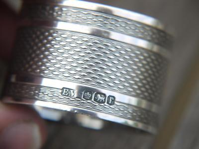 Superb Quality Antique Hm 1931 Sheffield Sterling Silver Napkin Ring 31Grms