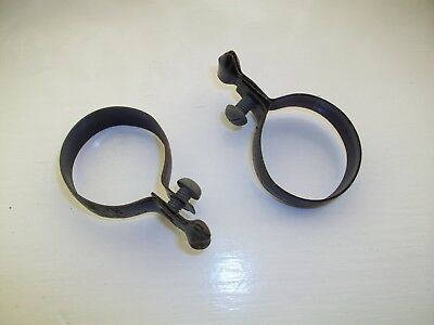 PAIR OF LARGE Vintage Black Frame Fitting Pump Clips To Hold Bicycle ...