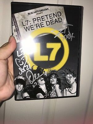 L7 autographed signed DVD case only grunge girl rare!!!