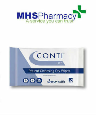 Conti Lite Patient Cleansing Dry Wipes - Pack of 100