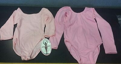 Girls Size 6/7 Pink Leotard Lot of 2- NWT