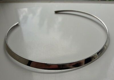 Wonderful Classic Hallmarked Milor Italy Solid Sterling Silver Collar Necklace