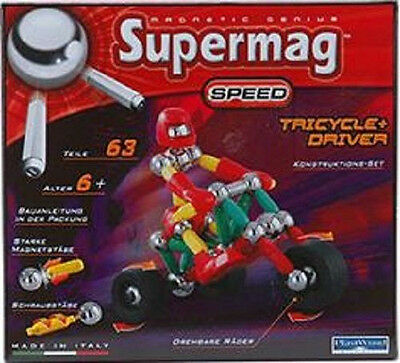 Supermag Speed Tricycle + Driver 63 Teile  Neu & OVP