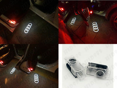 2X For Audi A3 A5 A8 Q7 LED Car Door Logo Welcome Shadow Lights Courtesy Laser