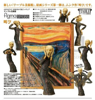 Good Smile Table Museum The Scream Figma Action Figure Authentic USA Seller