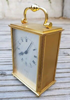Imhof Swiss movement solid brass carriage clock