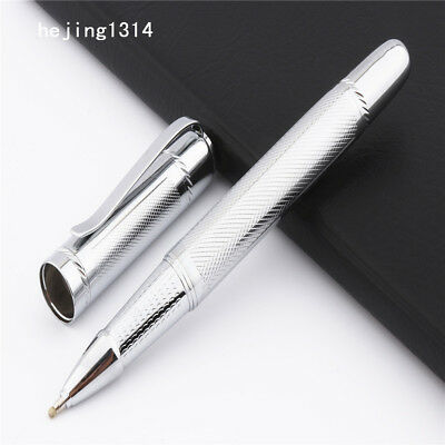 Jinhao 715 platinum Big body heavy Business office Medium nib Rollerball Pen New