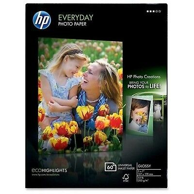 "Everyday Photo Paper - For Inkjet Print - Photo Paper - 5"" X 7"" - Glossy- Flo..."