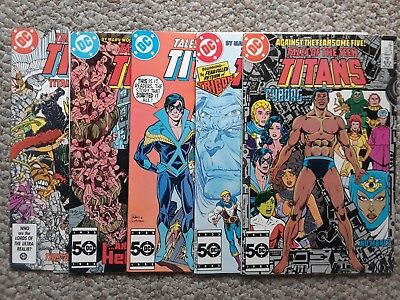 Tales of the Teen Titans and Firestorm comic lots, 11 issues, DC, mid+ grade
