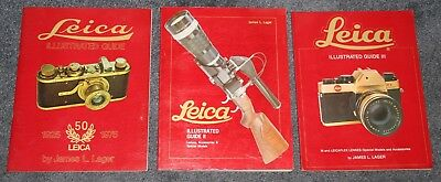 Leica ILLUSTRATED Guide Volume I, II & III Complete Set Red Softcover Editions