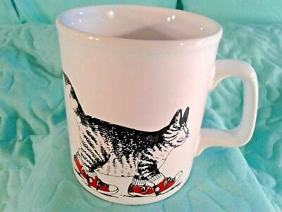 B Kliban Cat With Red Sneakers Coffee Cup, Mug, *kiln Craft* Made In England*