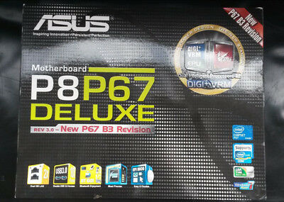 ASUS P8P67 DELUXE Rev3.0 Mainboard, S1155/Intel P67 mit ATX-Blende/.I/O-Shield