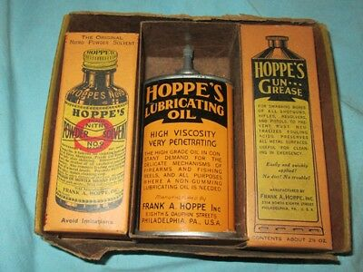 Vintage  Hoppe's Gun Cleaning Pack Oil Can Etc.