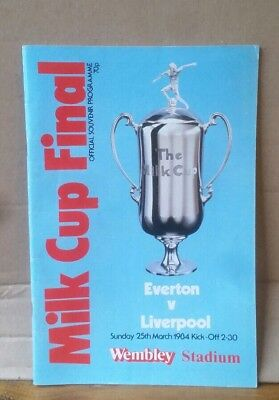 Everton V Liverpool Milk Cup Final 1984 Souvenir Programme