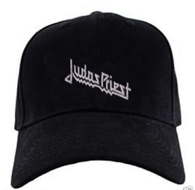 Judas Priest black cap hook and loop closure heavy metal speed hard rock hat 5e40d133bf7f
