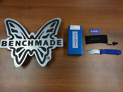 """*New* Benchmade 535S Bugout Serrated AXIS Folding Knife 3.24"""" S30V Satin Combo"""