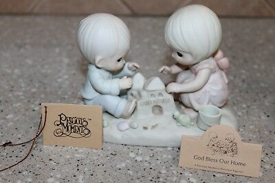"""Precious Moments """"God Bless our Home"""" 1984 figurines"""