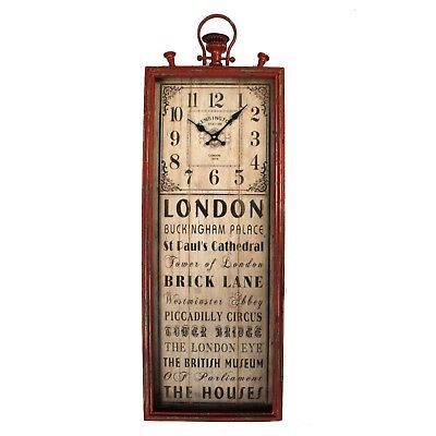 Red London Buckingham Palace Beetles Piccadilly Circus Fob Top Clock British Sty