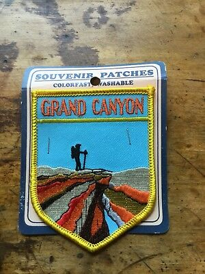 Vintage Embroidered Patch Badge Souvenir National Park Grand Canyon Hiking Hiker