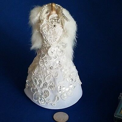 Artist Offering OOAK Dollhouse Miniature Evening Gown On Mannequin