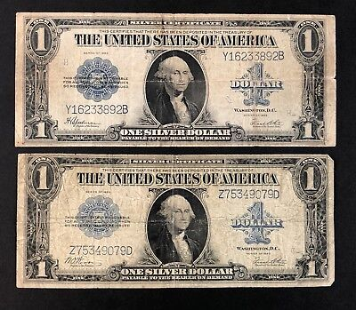1923 Horse Blanket 1$ Silver Certificates - Lot Of 2 (P1350)