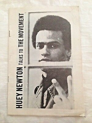 "1968 ""huey Newton Talks To The Movement"" Civil Rights Mag Black Panther Founder"