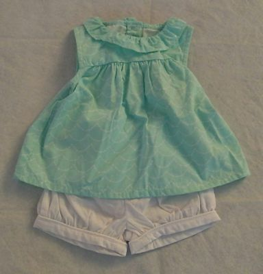 NWT Gymboree Little Splash Wave Print Swing Top Bloomer Set Outfit 2PC Baby Girl
