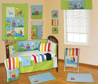 NEW Beautiful 25 Pce Baby Bedding Cot set Quilt Nappy Shower Gift Transport Car