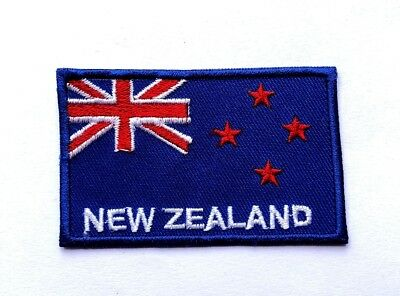 New Zealand Nation Flag Logo Embroidered Patch Iron On,Sew T-shirt Applique