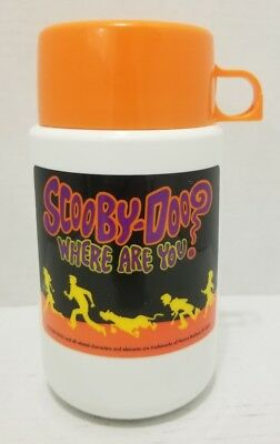 Scooby Doo Where Are You? Plastic Thermos 2000 Shaggy Thelma Cartoon Lunch Rare