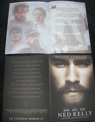 Ned Kelly - Heath Ledger Movie Flyer (Two)
