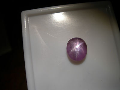 very rare Color Shift STAR Sapphire UNHEATED gemmy Purple Pink FLUORESCENT 2.55