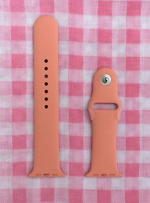 Flamingo 42mm Apple Watch Sport Band (Genuine/Authentic/OEM, coral/peach) NEW