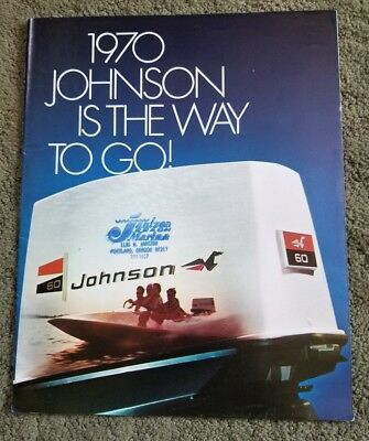1970 JOHNSON OUTBOARD Motor Brochure with Price Lists