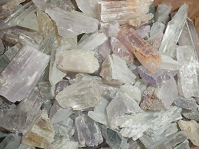 Spodumene Kunzite Hiddenite Triphane Crystal Over 10 g Large Pieces 450 gram Lot