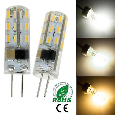 1 x 10x Led Silicone Cristal Ampoule G4 3W 3014 SMD Chaud Froid Blanc DC12V