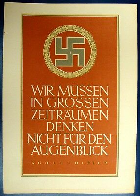 German Original Propaganda Week Pledge, Adolf Hitler, Year 1943, # 19