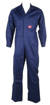 Blue Work Overalls Size 79L Cotton Drill Working Coveralls - WORKSENSE
