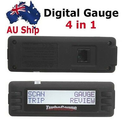 AU Free Ship Digital Gauge 4 in 1 TurboGauge IV Auto Computer Scan Tool