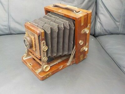 The 1900 B.b. Instantograph Patent Wooden Folding Camera Vintage Ld Collectable