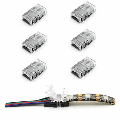10× 2/4pin LED Connector Connect Wire for 10mm 5050 RGB Waterproof LED Strip NEW