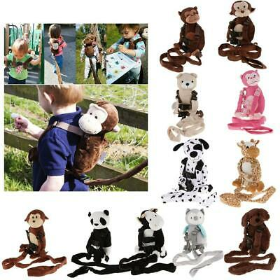 Safety Harness Strap Baby Kid Toddler Walking Backpack Reins Bag Monkey