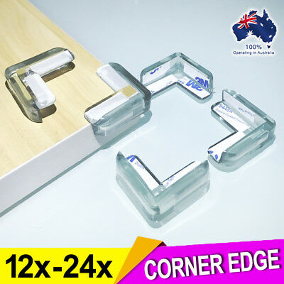Furniture Corner Guards Protector Edge Safety Bumpers L-Shaped with Adhesive