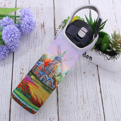400-600ml Travel Water Bottle Neoprene Cover Insulated Sleeve Bag Cup Holder