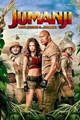 """""""Jumanji;Welcome to the Jungle""""..Jack Black ..Classic Movie Poster Various Sizes"""