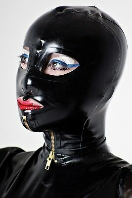 Latex Rubber Gummi Mask Hood Sz MediumLittle RubberCherry 21-23 inch Head Zipped