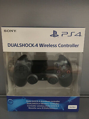 Sony Playstation 4 PS4 Dualshock Wireless Controller Steel Black V2 NEU / OVP